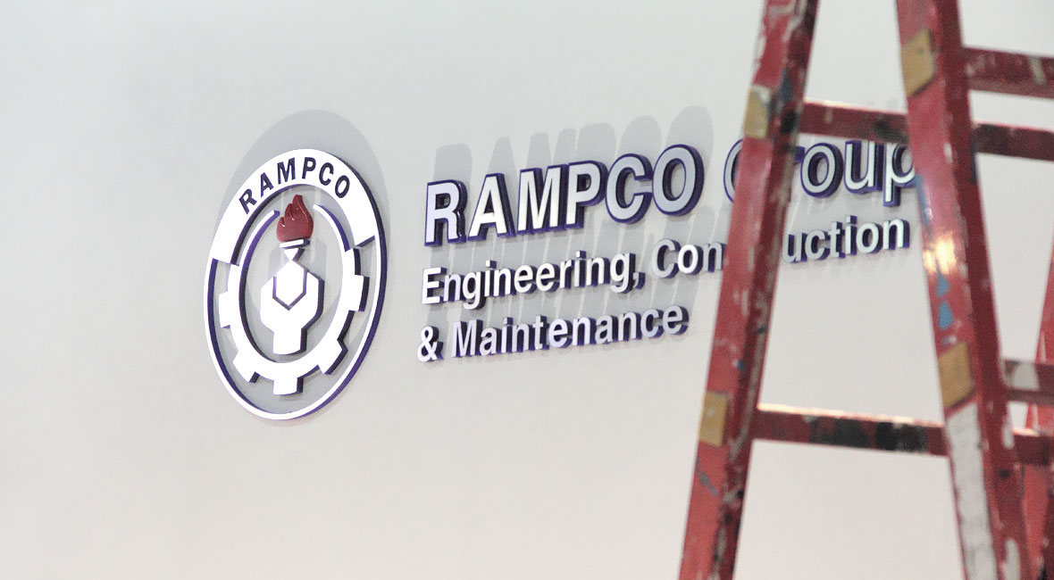 Rampco Group oil petrochemical refinery visual brand identity logo corporate identity graphic design